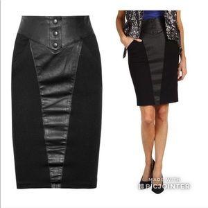 Catherine Malandrino Leather Pencil Skirt Pinup 6